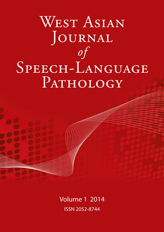 Book cover of West Asian Journal of Speech-Language Pathology